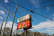 Sign for Butt Hutt, barbecue resturant on 28th February 2020 in Natchez, Mississippi, United States.