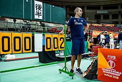 06-10-2018 JPN: World Championship Volleyball Women day 7, Nagoya<br /> Press conference coaches group Nagoya after training day for Netherlands and Brazil / Rinke van den Brink