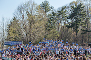 "Brooklyn, NY - 17 April 2016. Vermont Senator Bernie Sanders, left, surrounded by suporters. Sanders, who is running as a Democrat in the U.S. Presidential primary elections, held a campaign ""get out the  vote"" rally in Brooklyn's Prospect Park."