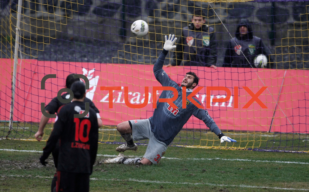 Eskisehirspor's goalkeeper Kayacan Erdogan during their Turkey Cup matchday 3 soccer match Eyupspor between Eskisehirspor at Eyup Stadium in Istanbul Turkey on Wednesday, 11 January 2012. Photo by TURKPIX