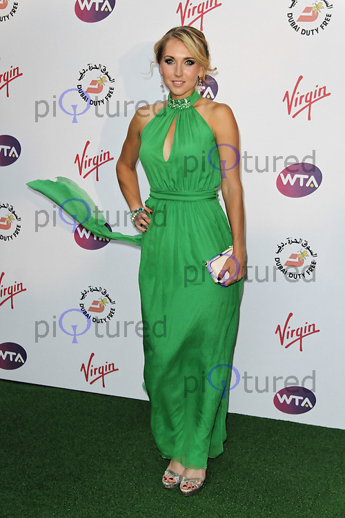 LONDON - JUNE 21: Elena Vesnina attended The WTA Pre-Wimbledon Party, Kensington Roof Gardens, London, UK. June 21, 2012. (Photo by Richard Goldschmidt)