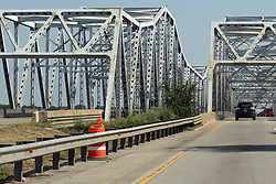 I 55 bridge over Des Plaines River near Joliet Illinois.  The bridge also carries Historic Route 66 traffic.