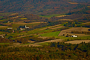 View of Berks County farmland from Hawk Mountain Santuary, Berks Co. PA