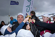 The Aberdeen Asset Management Scottish Open Golf Championship 2012 At Castle Stuart Golf Links..Final Round Saturday 14-07-12.. .Rt Hon First Minister Alex Salmond MSP with the Ryder Cup , during the Final Round of The Aberdeen Asset Management Scottish Open Golf Championship 2012 At Castle Stuart Golf Links. The event is part of the European Tour Order of Merit and the Race to Dubai....At Castle Stuart Golf Links, Inverness, Scotland...Picture Mark Davison/ ProLens PhotoAgency/ PLPA.Saturday 14th July 2012.