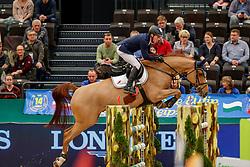 DREHER Hans-Dieter (GER), Perideaux<br /> Leipzig - Partner Pferd 2020<br /> FUNDIS Youngster Tour<br /> Finale für 8jährige Pferde<br /> Zwei-Phasen Springprfg., int.<br /> Höhe: 1.40 m<br /> 19. Januar 2020<br /> © www.sportfotos-lafrentz.de/Stefan Lafrentz