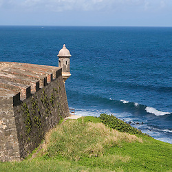 A lookout tower at Fort San Cristobal in San Juan, Puerto Rico.