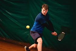 Klemen Tasner during national tennis cup tournament, Telemach - Drzavni pokal, on January 16, 2021 in Teniski klub Branik, Maribor, Slovenia. Photo by Blaž Weindorfer / Sportida