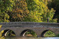 ©Licensed to London News Pictures 10/10/2019.<br /> Sidcup,UK.A cold autumnal October morning at Footscray Meadows on the River Cray, Sidcup, South East London. Photo credit: Grant Falvey/LNP