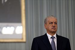 November 12, 2016 - Abed el Malek Sellal Prime Minister at the opening of the Government-Walis meeting at the Palais des Nations. Algiers on 12/11/2016  (Credit Image: © Billal Bensalem/NurPhoto via ZUMA Press)
