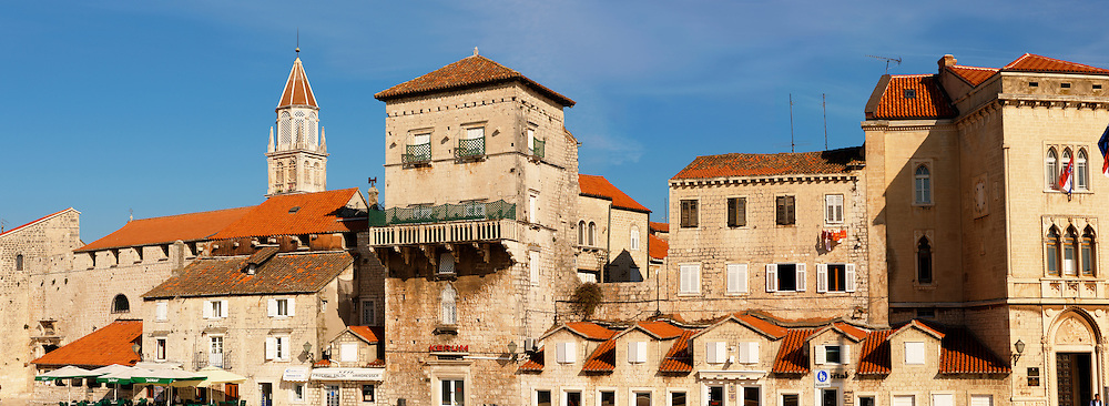 Trogir Harbour front with Medieval buildings - Croatia
