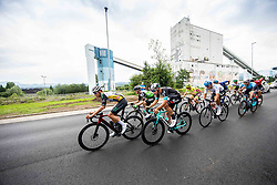 Race Leaders during 2nd Stage of 27th Tour of Slovenia 2021 cycling race between Zalec and Celje (147 km), on June 10, 2021 in Zalec - Celje, Zalec - Celje, Slovenia. Photo by Vid Ponikvar / Sportida