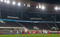 HELSINKI, FINLAND - Thursday, September 3, 2020: Empty seats during the UEFA Nations League Group Stage League B Group 4 match between Finland and Wales at the Helsingin Olympiastadion as the game is played behind closed doors. (Pic by Jussi Eskola/Propaganda)