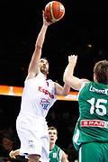 DESCRIZIONE : Kaunas Lithuania Lituania Eurobasket Men 2011 Quarter Final Round Spagna Slovenia Spain Slovenia<br /> GIOCATORE : Juan Carlos Navarro<br /> CATEGORIA : tiro penetrazione<br /> SQUADRA : Spagna Spain<br /> EVENTO : Eurobasket Men 2011<br /> GARA : Spagna Slovenia Spain Slovenia<br /> DATA : 14/09/2011<br /> SPORT : Pallacanestro <br /> AUTORE : Agenzia Ciamillo-Castoria/ElioCastoria<br /> Galleria : Eurobasket Men 2011<br /> Fotonotizia : Kaunas Lithuania Lituania Eurobasket Men 2011 Quarter Final Round Spagna Slovenia Spain Slovenia<br /> Predefinita :