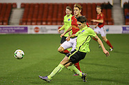 Brighton U18 George Cox  during the FA Youth Cup match between U18 Nottingham Forest and U18 Brighton at the City Ground, Nottingham, England on 10 December 2015. Photo by Simon Davies.