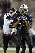 Cedar Ridge's David Racine catches a long pass to set up a touchdown in the first half against Bowie.  (LOURDES M SHOAF for Round Rock Leader)