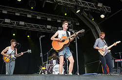 Alfie Hudson-Taylor and Harry Hudson-Taylor of Hudson Taylor perform on stage on day 1 of Standon Calling Festival on July 27, 2018 in Standon, England. Picture date: Friday 27 July, 2018. Photo credit: Katja Ogrin/ EMPICS Entertainment.