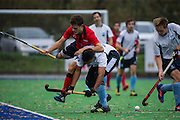 West Herts v Southgate - Men's Hockey League, East Conference, New Field, Watford, UK on 20 November 2016. Photo: Simon Parker
