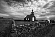 One of the oldest wooden churches in Iceland, Budir, in the western tip of Snaefellsnes penisula