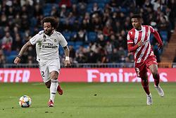 January 24, 2019 - Madrid, Spain - Real Madrid's Marcelo Vieira and Girona FC's Gorka Iraizoz during Copa del Rey match between Real Madrid and Girona FC at Santiago Bernabeu Stadium. (Credit Image: © Legan P. Mace/SOPA Images via ZUMA Wire)