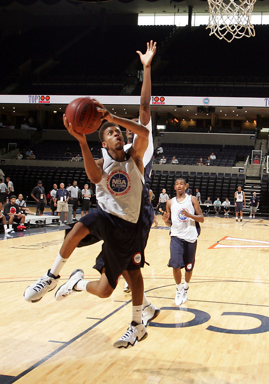 J.T. Terrell handles the ball during the 2009 NBPA Top 100 Basketball Camp held Friday June 17- 20, 2009 in Charlottesville, VA. Photo/ Andrew Shurtleff