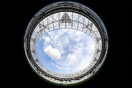 a Fish eye general view of inside the London Stadium before k/o. UEFA Europa league, 3rd qualifying round match, 2nd leg, West Ham Utd v NK Domzale at the London Stadium, Queen Elizabeth Olympic Park in London on Thursday 4th August 2016.<br /> pic by John Patrick Fletcher, Andrew Orchard sports photography.