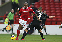 Photo: Pete Lorence.<br />Nottingham Forest v Bentford. Coca Cola League 1. 04/11/2006.<br />Junior Agogo on the charge.
