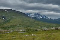 View across Tarradalen - Tarra Valley along Padjelantaleden Trail, Lapland, Sweden