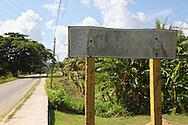 Faded sign in San Miguel de los Banos, Matanzas, Cuba.