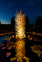 """White Tower"", Dale Chihuly Exhibition (blown glass), Denver Botanic Gardens, Denver, Colorado USA."