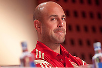 Mediaset presents media coverage of the World Cup soccer in Brazil at Ciudad del Futbol, Madrid. In the pic: Pepe Reina. May 27, 2014. (ALTERPHOTOS / Nacho Lopez)
