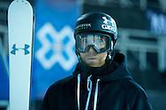 Justin Dorey during Ski Superpipe Practice at 2014 X Games Aspen at Buttermilk Mountain in Aspen, CO. ©Brett Wilhelm/ESPN