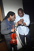 l to r: Patmore Lewis and James Posey at The ROOTS Present the Jam produced by Jill Newman Productions held at Highline Ballroom on April 29, 2009 in New York City