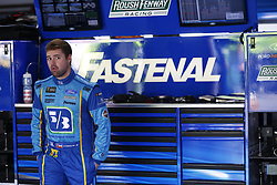 April 27, 2018 - Talladega, Alabama, United States of America - Ricky Stenhouse, Jr (17) hangs out in the garage during practice for the GEICO 500 at Talladega Superspeedway in Talladega, Alabama. (Credit Image: © Justin R. Noe Asp Inc/ASP via ZUMA Wire)