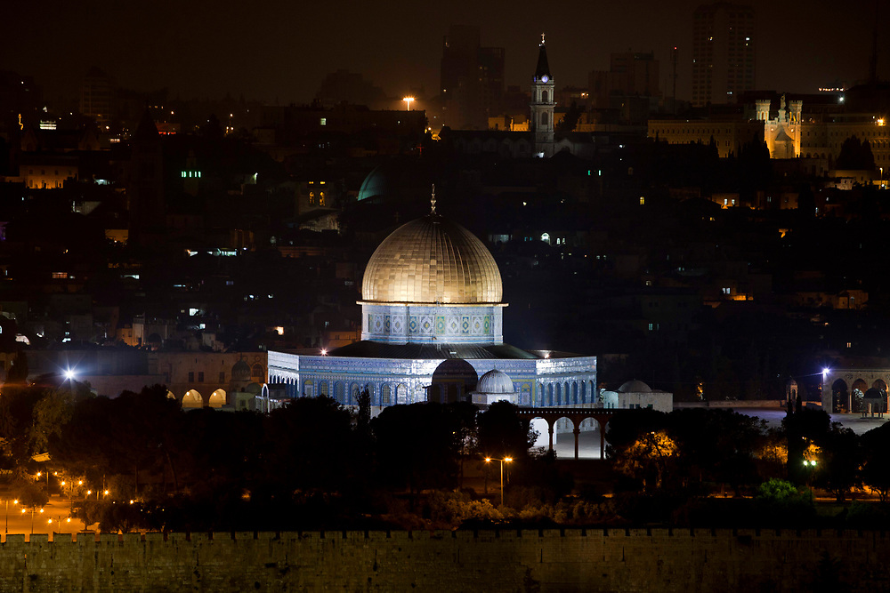 A general view of the golden Dome of the Rock Islamic shrine in Jerusalem's Old City on May 9, 2011.