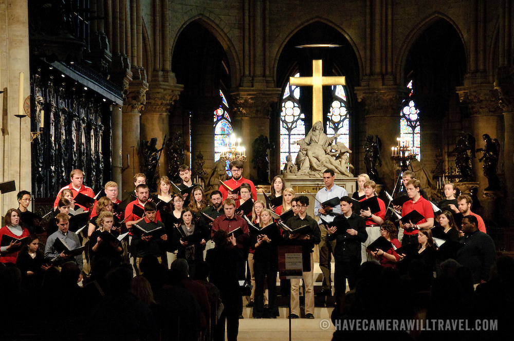 Choir in Notre Dame Cathedral, Paris