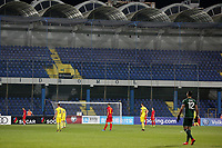 PODGORICA, MONTENEGRO - JUNE 07: View of empty stadium during the 2020 UEFA European Championships group A qualifying match between Montenegro and Kosovo at Podgorica City Stadium on June 7, 2019 in Podgorica, Montenegro MB Media
