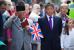 May 20, 2017 - Maidstone, Kent. Veteran soldiers from the Queen's Gurkha  Engineers gather to join in the Civic & Freedom Parade today in Maidstone, Kent. They will be accompanied by the 36 Engineer Regiment and the Band of the Brigade of Gurkhas. (Credit Image: © Manu Palomeque/London News Pictures via ZUMA Wire)