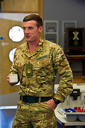 Pictured: Sgt Major Mark 'Fax' Fairbrother is glad to be home.<br /> <br /> 2 SCOTS arriving home from Iraq deployment. OP Shader troops from The Royal Highland Fusiliers, 2nd Battalion The Royal Regiment of Scotland have been training local forces since December 2017. The troops have been training the local Iraqi forces for the last six months<br /> <br /> <br /> Ger Harley | EEm 19 June 2018