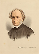 'Charles John Ellicott (1819–1905) distinguished English Christian theologian, academic and churchman. Bishop of the sees of Gloucester and Bristol 1863-1897. Tinted lithograph c1880.'
