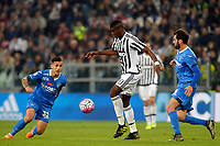 Paul Pogba Juventus , Riccardo Saponara Empoli<br /> Torino 02-04-2016 Juventus Stadium Football Calcio Serie A 2015/2016 Juventus - Empoli. Foto Filippo Alfero / Insidefoto