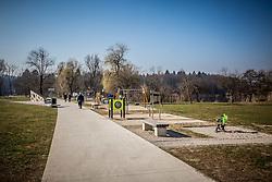 Mostec / Koseze, part of Siska, on March 17, 2017 in Ljubljana, Slovenia. Photo by Vid Ponikvar / Sportida