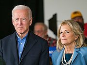 23 NOVEMBER 2019 - DES MOINES, IOWA: Former Vice President JOE BIDEN and his wife, JILL BIDEN, at a campaign event in Des Moines. Vice President Biden announced that Tom Vilsack, the former Democratic governor of Iowa, endorsed him. Biden and Vilsack appeared with their wives at an event in Des Moines. Iowa hosts the first presidential selection event of the 2020 election cycle. The Iowa caucuses are on February 3, 2020.         PHOTO BY JACK KURTZ