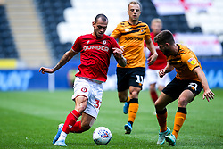 Pedro Pereira of Bristol City takes on Brandon Fleming of Hull City - Mandatory by-line: Robbie Stephenson/JMP - 24/08/2019 - FOOTBALL - KCOM Stadium - Hull, England - Hull City v Bristol City - Sky Bet Championship