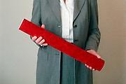 Nederland, Nijmegen, 27-10-2006..Promovenda houd de koker met de academische, wetenschappelijke bul in haar handen...Foto: Flip Franssen/Hollandse Hoogte