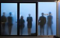 DEU, Deutschland, Germany, Berlin, 07.09.2018: Journalisten verfolgen eine Pressekonferenz nach der Klausurtagung der CDU/CSU-Bundestagsfraktion.