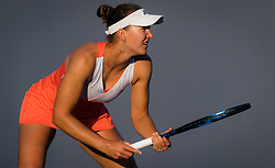 March 21, 2019 - Miami, FLORIDA, USA - Nicole Melichar of the United States playing doubles at the 2019 Miami Open WTA Premier Mandatory tennis tournament (Credit Image: © AFP7 via ZUMA Wire)