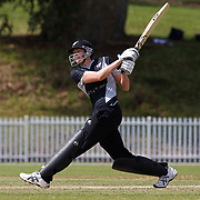 Nicola Brown batting during the match between New Zealand and Pakistan in the Super 6 stage of the ICC Women's World Cup Cricket tournament at Drummoyne Oval, Sydney, Australia on March 19, 2009. New Zealand won the match by 223 runs. Photo Tim Clayton