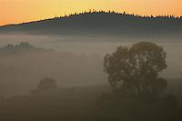 Dawn at Sun River Valley, Bieszczady National Park, Poland