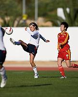 Ingvild Stensland. Norway - China. Algarve Cup, Albufeira, Portugal 7-3-2008. Photo: Jussi Eskola