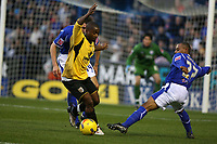 Photo: Pete Lorence.<br />Leicester City v Barnsley. Coca Cola Championship. 16/12/2006.<br />Levi Porter attempts to tackle Leon Knight.